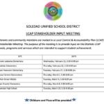 LCAP Stakeholder Input Meeting