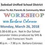 Invitation To All Parents & Community Members Worshop