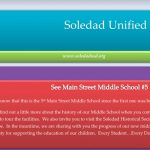 Image of newsletter heading - Soledad Unified School District, Weekly Newsletter, June 7, 2019, Timothy J Vanoli, Superintendent, Every Student...Every day, www.soledadusd.org