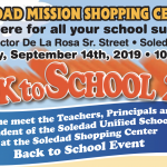 close up of flyer for back to school event