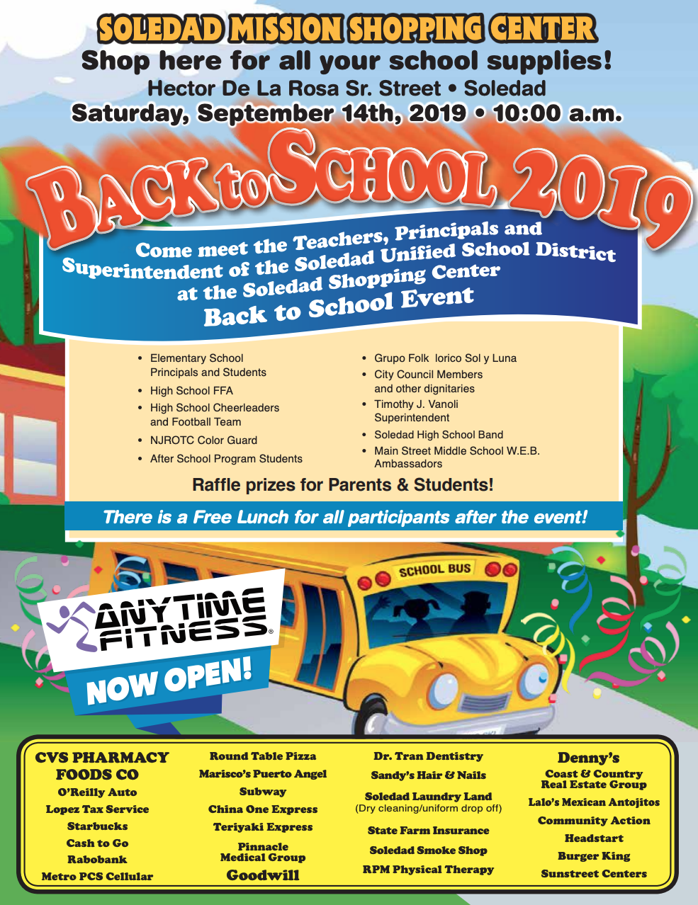 flyer for back to school event