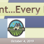 Image of newsletter heading - Every Student...Every Day! Soledad Unified School District, Weekly Newsletter, October 4, 2019, Timothy J Vanoli, Superintendent