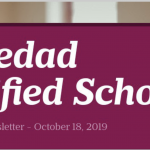 Image of newsletter heading - Soledad Unified School District, Weekly Newsletter, October 18, 2019