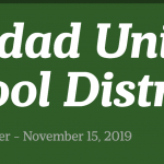Image of newsletter heading - Soledad Unified School District, Weekly Newsletter, November 15, 2019