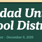 Image of newsletter heading - Soledad Unified School District, Weekly Newsletter, December 6, 2019