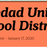 Image of newsletter heading - Soledad Unified School District, Weekly Newsletter, January 17, 2020