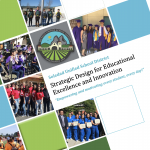 "Image of the front page of our booklet ""Soledad Unified School District Strategic Design for Educational Excellence and Innovation, ""Empowering and motivating every student, every day!"""", has district logo and a few pictures of our students."