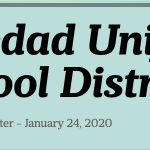 Image of newsletter heading - Soledad Unified School District, Weekly Newsletter, January 24, 2020