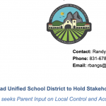 Image of Memo Header, includes district logo, date, contact information of Randy Bangs