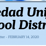 Image of newsletter heading - Soledad Unified School District, Weekly Newsletter, February 14, 2020