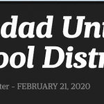 Image of newsletter heading - Soledad Unified School District, Weekly Newsletter, February 21, 2020