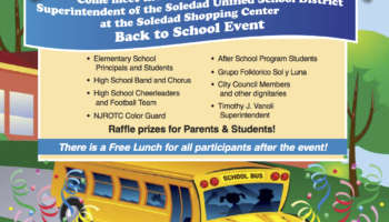 Back To School Event @ Soledad Mission Shopping Center!