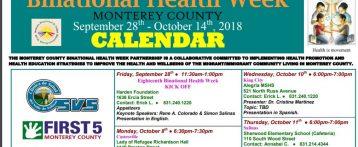 Binational Health Week Calendar/Semana Binacional de Salud Calendario
