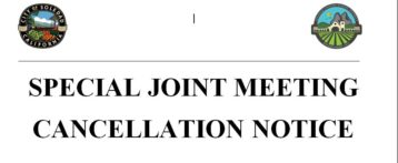 CANCELLATION OF THE SPECIAL JOINT MEETING-3/27/18