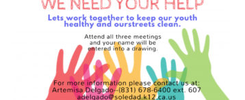 Soledad High School & Sun Street Centers – Save the Date