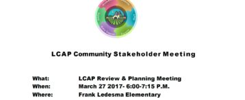 LCAP Stakeholder Meeting March 27, 2017