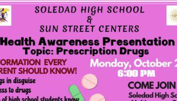 Health Awareness Mon. Oct. 22, 6pm @SHS Cafeteria