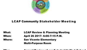 LCAP Stakeholder Meeting April 26, 2017