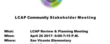 LCAP Stakeholder Meeting April 26, 2017