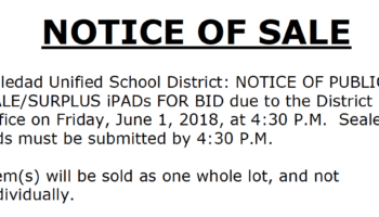 Auction of Surplus iPads