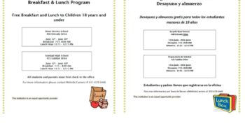 Summer School Seamless Breakfast & Lunch Program