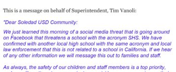 Thursday, February 22, 2018 Superintendent
